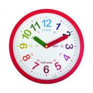 Acctim Lulu Time Tch Wall Clock Red