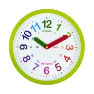 Acctim Lulu Time Tch Wall Clock Grn