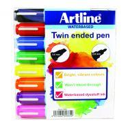 Artline 2 in 1 Flipchart Marker Astd Pk8