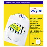 Avery CD DVD Paper Sleeve White Pk100