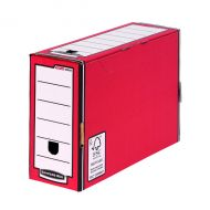 Bankers Box 127mm T/File-Red Pk5