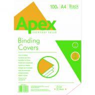 Fellowes Apex Lth/brd Blk A4 Cover Pk100