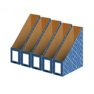 Bankers Box Decor Mag File Blue Pk5