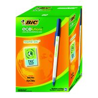 Bic Ecolutions Ball Pen Med Blue Pk60