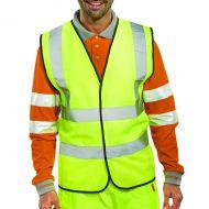 Hi-Viz Vest S/Yellow EN ISO 20471 Lge