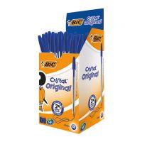 Bic Cristal Ball Pen Clear Barrel 1.0mm  Blue [Pack 50]