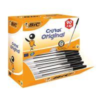 Bic Cristal Ballpoint Pen Medium Black (Pack of 100)