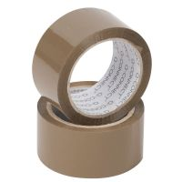 Polypropylene Packaging Tape 50mmx66m Brown (Pack of 6) KF27010