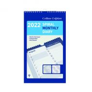 Collins Spiral Monthly Diary 2022