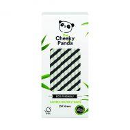 Cheeky Panda Straw Black Strp Pk250