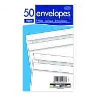 Wht Ss Envelopes 89 X 152mm Pk1000