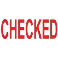 Colop Green Line Word Stamp CHECKED Red