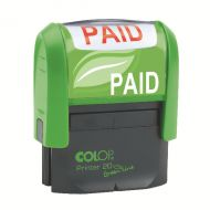 Colop Green Line Stamp PAID GLP20PAID