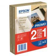 Epson Premium Glossy 10x15cm Photo 2for1