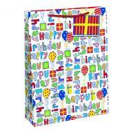 Happy Birthday Gift Bag Med Pk6