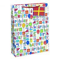 Happy Birthday Gift Bag Large Pk6