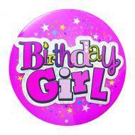 Birthday Girl Giant Badge Pack of 6