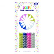 Cake Candle Set Multicolour Pk6