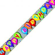 Holographic Balloon Bday Banner Pk6