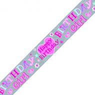 Birthday Girl Banner Pink Pack 6