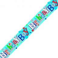 Birthday Boy Banner Blue Pack 6