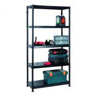 Barton 5 Shelf 1840x900x400mm Black