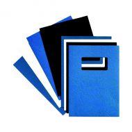 GBC Blue L/Grn Wndw Binding Covers 250gm