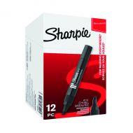 Sharpie W10 Perm Chisel Marker Blk Pk12