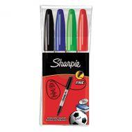 Sharpie Permanent Marker Fine Asstd Pk4