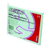 Shield Embossed Poly Gloves M Pk100