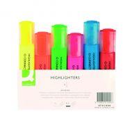 Q-Connect Highlighter Pen Asstd Pack-6