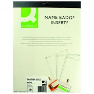 Q-Connect Name Badge 54x90mm Insert Pk25