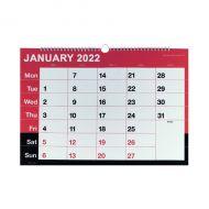 Wirebound MTV Calendar A3 2022