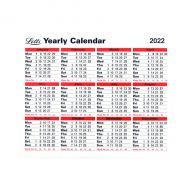 Letts Yearly Calendar 2022