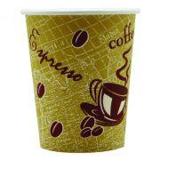Single Wall Paper Cup 8oz Printed Pk50