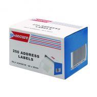 GoSecure 250 Address Labels Pk6