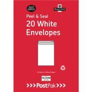 Envelopes C4 Peel & Seal White 90G Pk200
