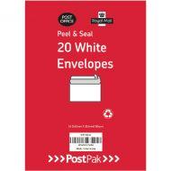 Envelopes C6 Peel & Seal White 80G Pk520