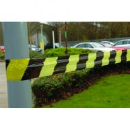 Tape Barrier Stripe 72mmX500m Blk Ylw