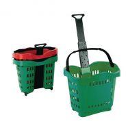 Giant Shopping Basket Trolley Green