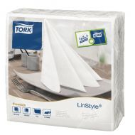 Tork LinStyle Dinner Napkins 4 Fold Pk50