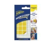 Sellotape Hook/Loop Removable Pads Pk24