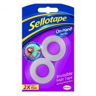 Sellotape Refill Matt 18mmx15m Pk2