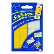 Sellotape Sticky Hook / Loop Pad Pk24