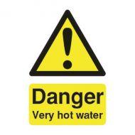 Danger V.Hot Water 75x50mm Self-Adh Sign
