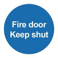 Fire Door Keep Shut 100x100mm PVC Sign