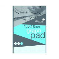 Silvine Graph Pad 1/5/10 50shts A4