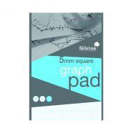 Silvine Graph Pad 5mm Sq 50shts A4