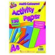 Art Box Activity Paper A4 Assorted Pk6