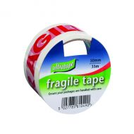 Fragile 50mmx33m 1Rl Ultra Rd/Wh P6